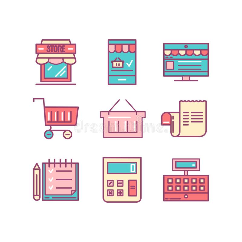 Αγορές, λιανικός, παράδοση, κάρτα δώρων, έκπτωση και περισσότερο, λεπτό λ απεικόνιση αποθεμάτων