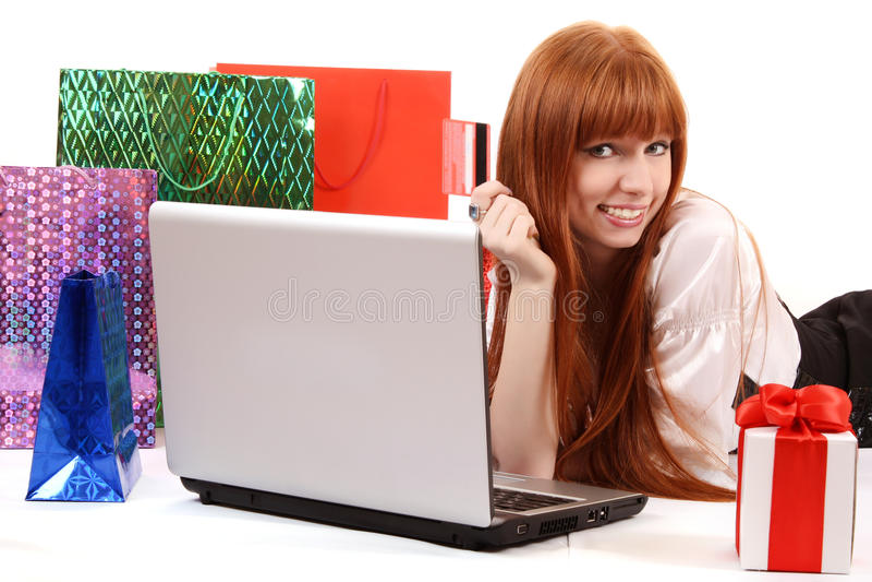 Αγορές μέσω Διαδικτύου στοκ εικόνα με δικαίωμα ελεύθερης χρήσης