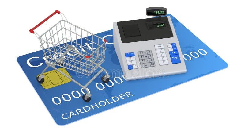 Αγορές με την πιστωτική κάρτα απεικόνιση αποθεμάτων