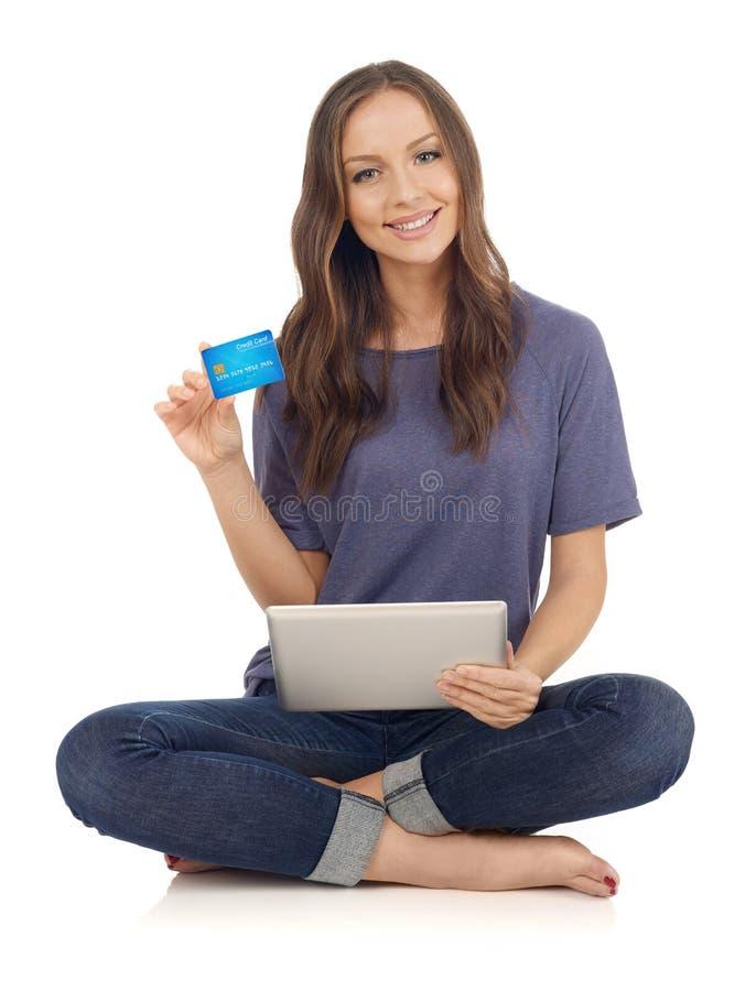 Αγορές με την πιστωτική κάρτα στοκ εικόνα με δικαίωμα ελεύθερης χρήσης