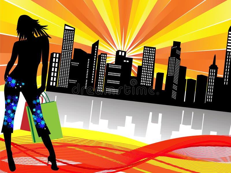 αγορές πόλεων ελεύθερη απεικόνιση δικαιώματος