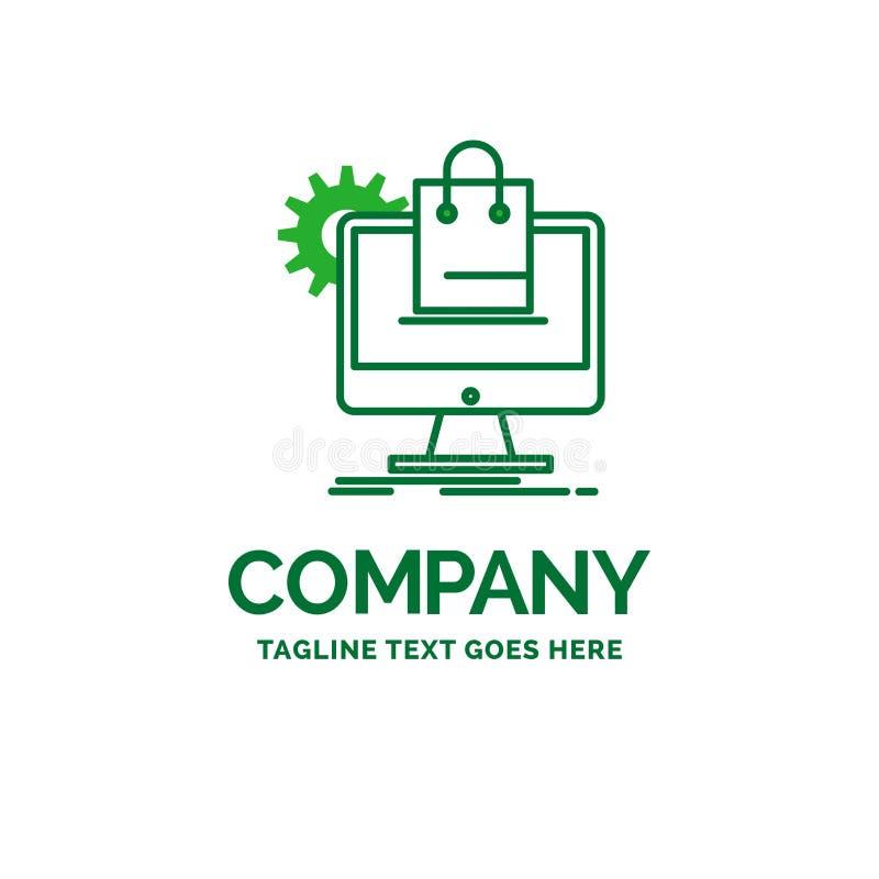 αγορές, σε απευθείας σύνδεση, ηλεκτρονικό εμπόριο, υπηρεσίες, επίπεδο επιχειρησιακό λογότυπο τ κάρρων διανυσματική απεικόνιση