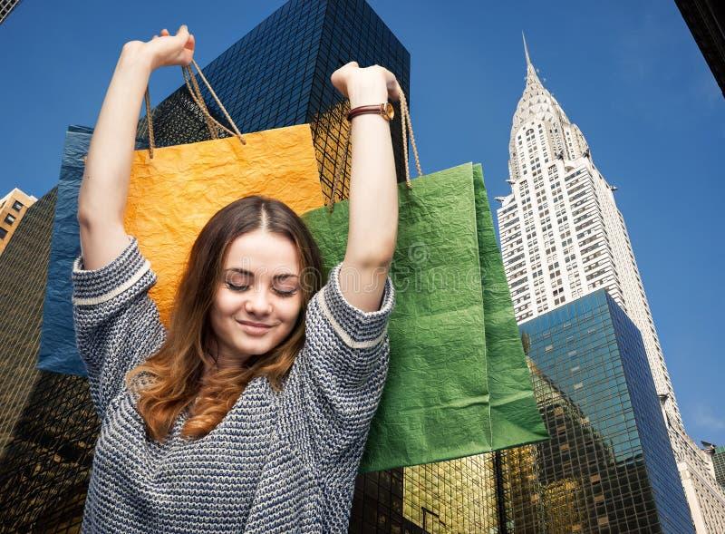 Αγορές στην πόλη της Νέας Υόρκης στοκ εικόνες