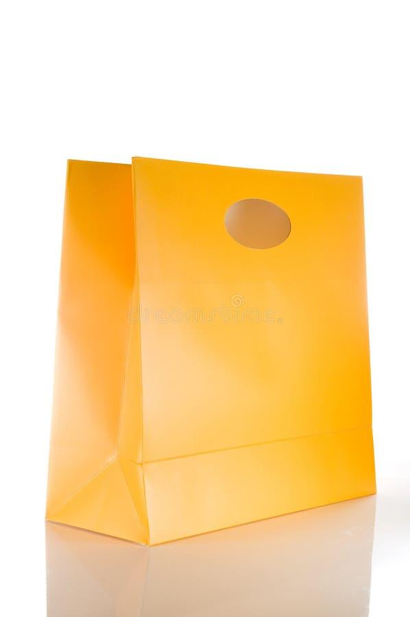 αγορές τσαντών κίτρινες στοκ φωτογραφία με δικαίωμα ελεύθερης χρήσης