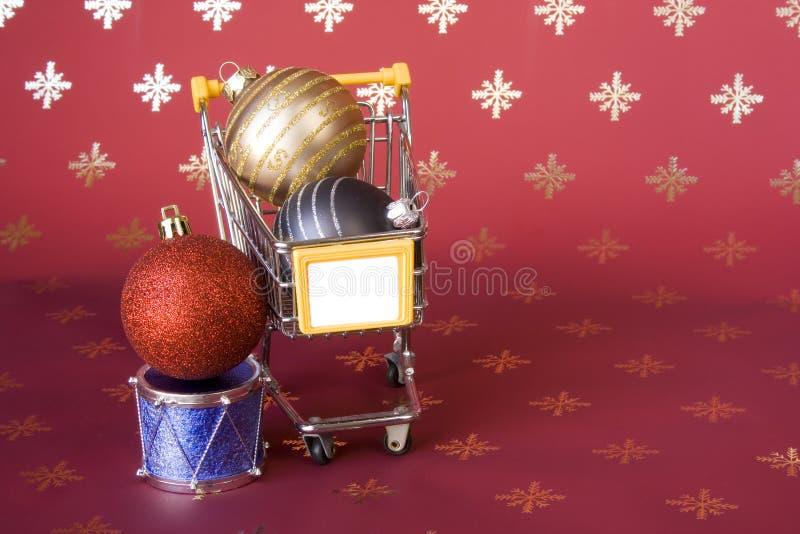 αγορές Χριστουγέννων στοκ φωτογραφία