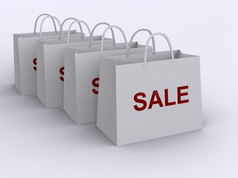 αγορές 3 τσαντών ελεύθερη απεικόνιση δικαιώματος