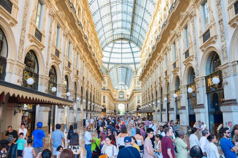 Αγορές Galleria Vittorio Emanuele Μιλάνο στοκ φωτογραφίες με δικαίωμα ελεύθερης χρήσης