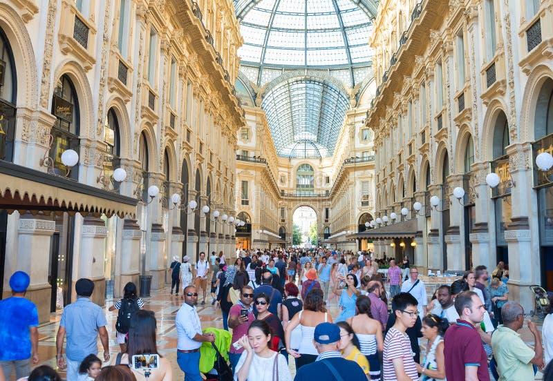 Αγορές Galleria Vittorio Emanuele Μιλάνο στοκ εικόνα με δικαίωμα ελεύθερης χρήσης