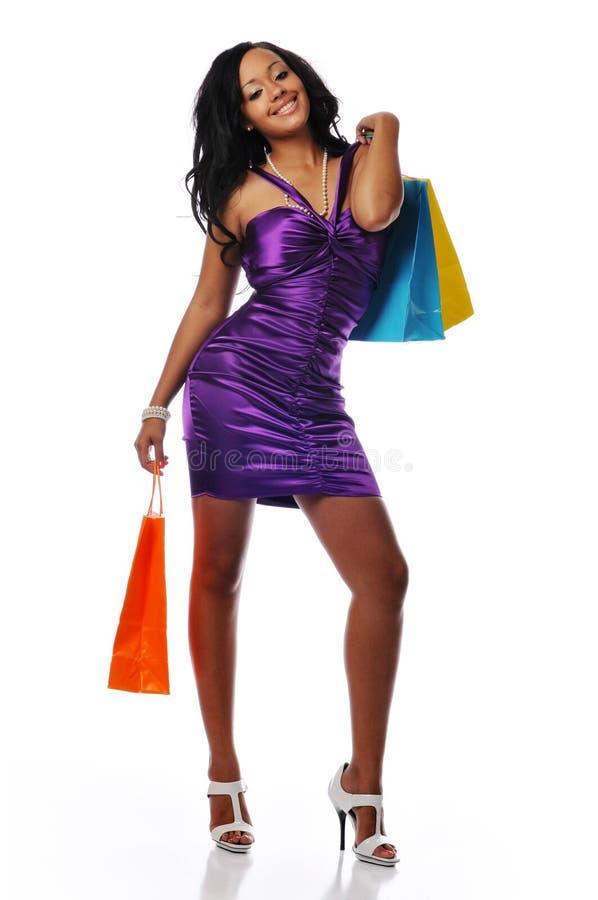 αγοραστής αφροαμερικάνων στοκ εικόνες