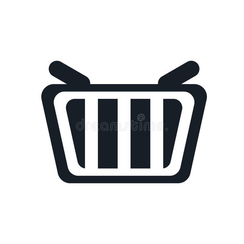 Αγορών καλαθιών σημάδι και σύμβολο εικονιδίων διανυσματικό που απομονώνονται στο άσπρο υπόβαθρο, έννοια λογότυπων καλαθιών αγορών ελεύθερη απεικόνιση δικαιώματος
