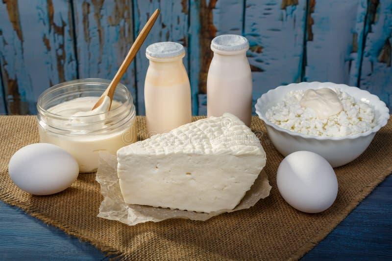 Αγροτικά γαλακτοκομικά προϊόντα στοκ φωτογραφία με δικαίωμα ελεύθερης χρήσης