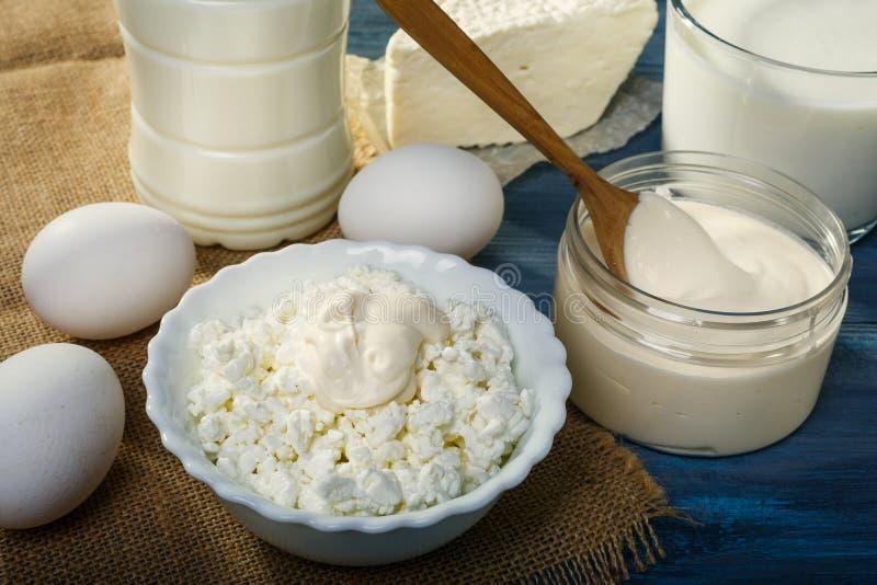 Αγροτικά γαλακτοκομικά προϊόντα στοκ φωτογραφίες