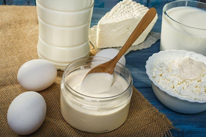 Αγροτικά γαλακτοκομικά προϊόντα στοκ εικόνες