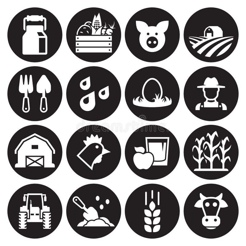 Αγροτικά εικονίδια καθορισμένα ελεύθερη απεικόνιση δικαιώματος