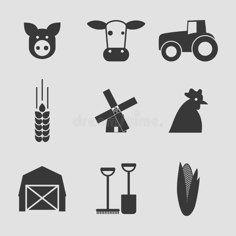 Αγροτικά εικονίδια ελεύθερη απεικόνιση δικαιώματος