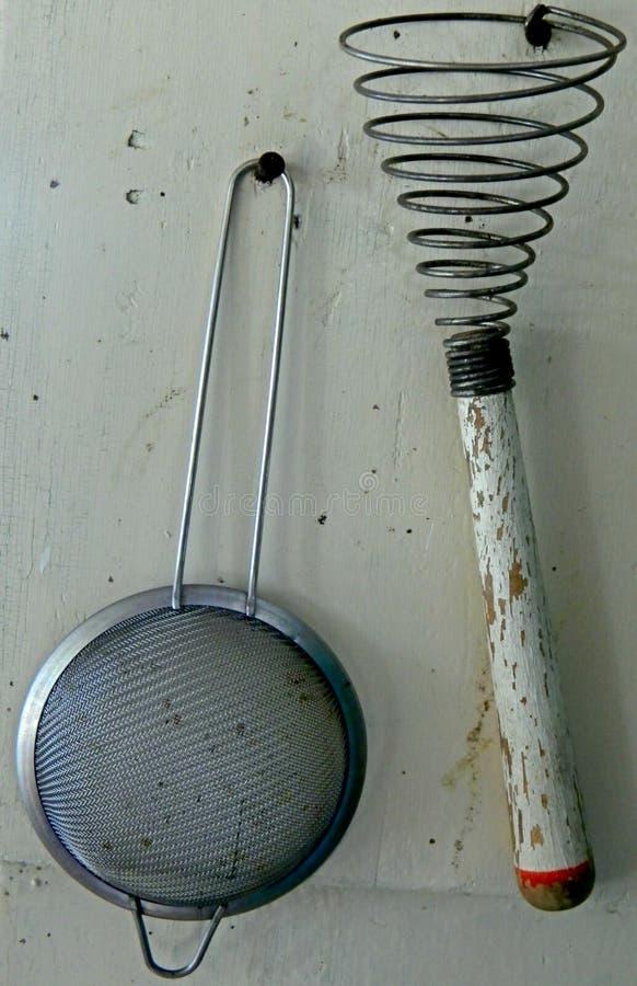 Αγροτικά εργαλεία κουζινών στοκ φωτογραφίες με δικαίωμα ελεύθερης χρήσης