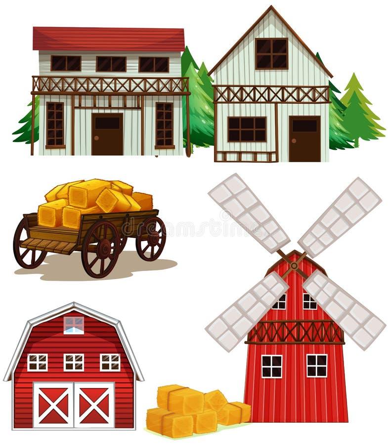 Αγροτικά κτήρια ελεύθερη απεικόνιση δικαιώματος