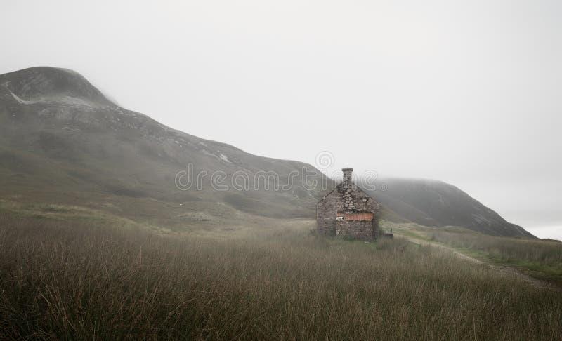 Αγροτικά κτήρια Lairigmor στον τρόπο στο οχυρό William στοκ φωτογραφίες