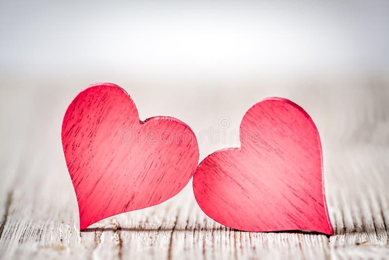 Αγροτικές καρδιές ημέρας βαλεντίνων στοκ φωτογραφία με δικαίωμα ελεύθερης χρήσης