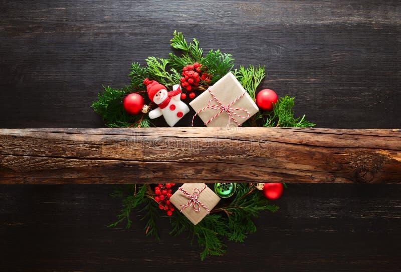 Αγροτική έννοια Noel ή Χριστουγέννων στοκ εικόνα