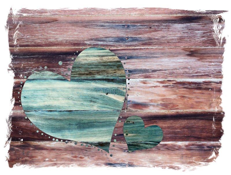 Αγροτική καρδιά βαλεντίνων στοκ φωτογραφίες με δικαίωμα ελεύθερης χρήσης
