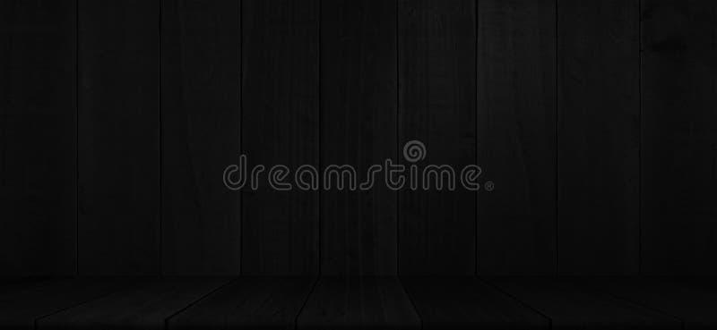 Αγροτική μαύρη ξύλινη επίδειξη προϊόντων σανίδων στοκ φωτογραφία