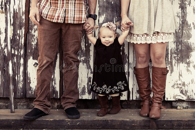 Αγροτική οικογένεια στοκ εικόνα με δικαίωμα ελεύθερης χρήσης