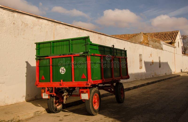 Αγροτική πόλη - κέντρο της Ισπανίας στοκ εικόνες