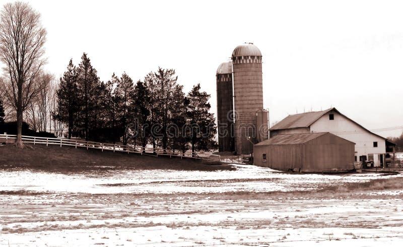 Download αγροτική σέπια στοκ εικόνες. εικόνα από χιόνι, λιβάδι, χειμώνας - 62230