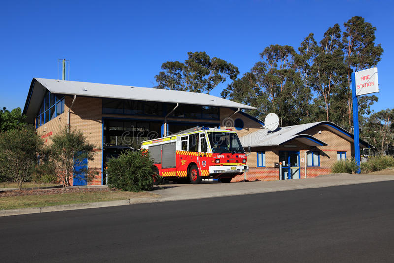 Αγροτική υπηρεσία πυρόσβεσης - πυροσβεστικός σταθμός Regentville στοκ εικόνα με δικαίωμα ελεύθερης χρήσης