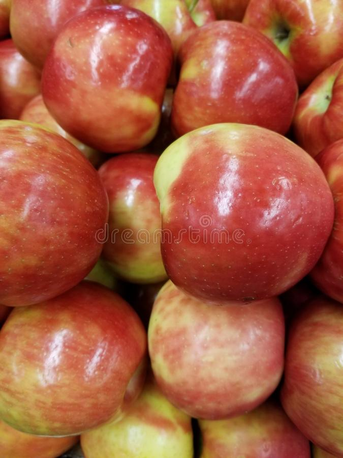 Αγροτική φρέσκια οργανική ρόδινη κυρία Apples στοκ φωτογραφία