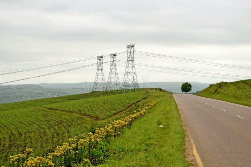 Αγροτική pylon σκηνή στοκ φωτογραφίες
