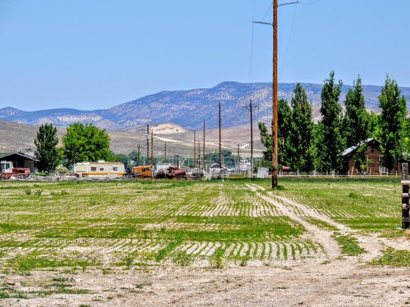 Αγροτικός αγροτικός τομέας της Γιούτα στοκ εικόνες