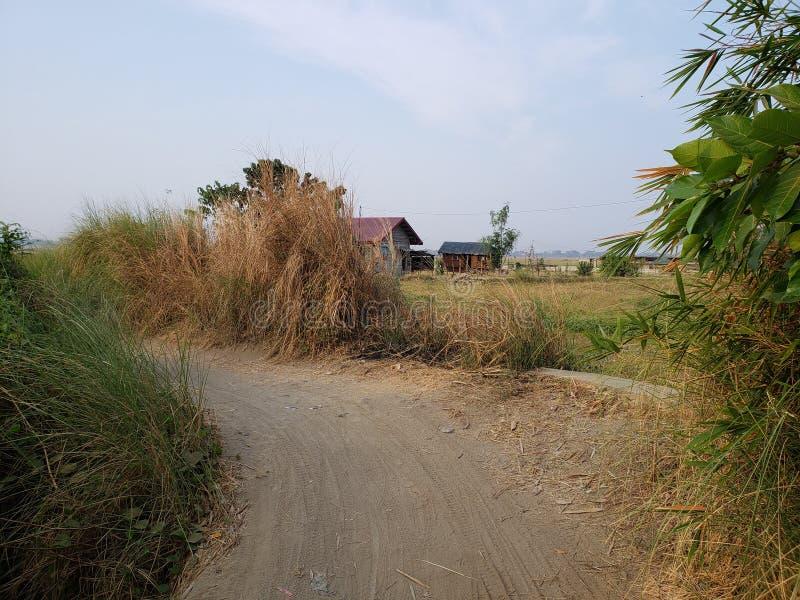 Αγροτικός δρόμος Φιλιππίνες στοκ εικόνα