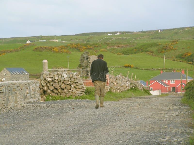 αγροτικός ιρλανδικός εργαζόμενος στοκ φωτογραφία