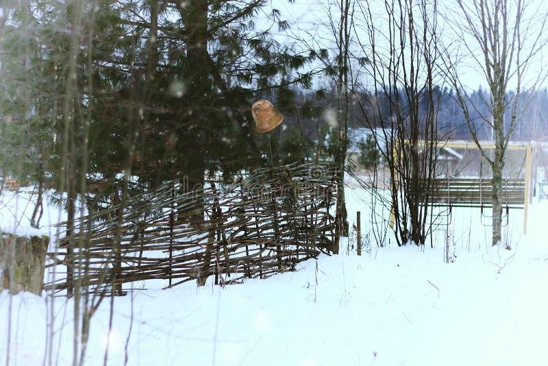 Αγροτικός του χωριού χειμώνας στοκ εικόνες