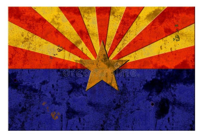 Αγροτικός τρύγος Grunge Phoenix σημαιών της Αριζόνα στοκ εικόνες
