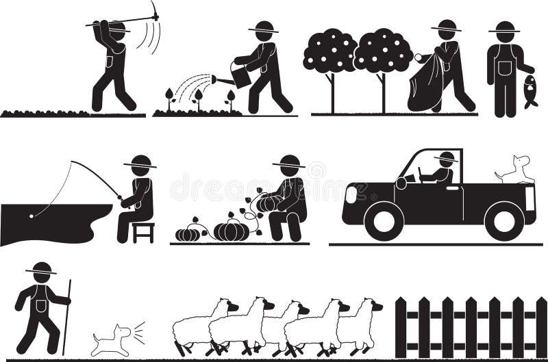 Αγροτικό άτομο απεικόνιση αποθεμάτων