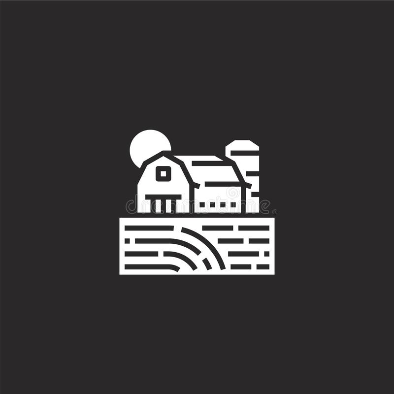 αγροτικό εικονίδιο Γεμισμένο αγροτικό εικονίδιο για το σχέδιο ιστοχώρου και κινητός, app ανάπτυξη αγροτικό εικονίδιο από τη γεμισ απεικόνιση αποθεμάτων