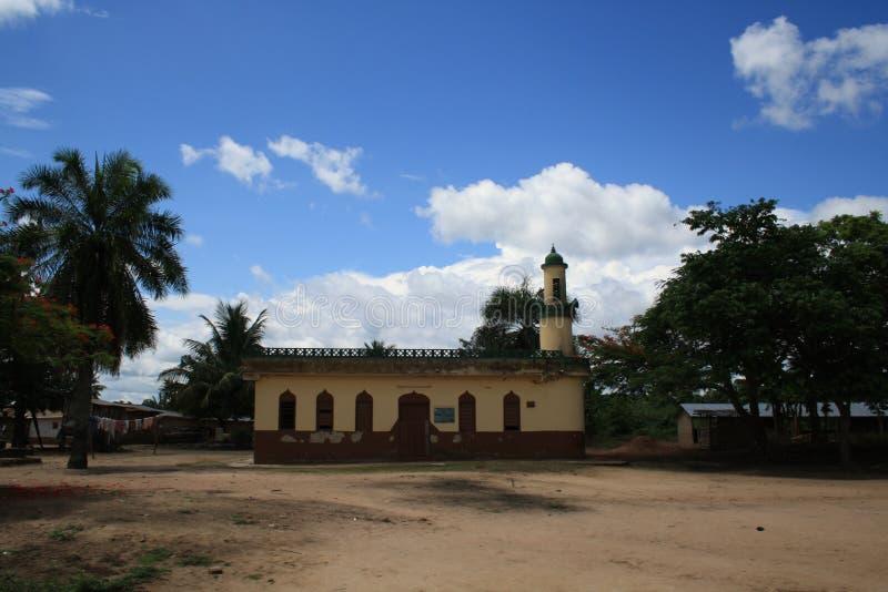Αγροτικό μουσουλμανικό τέμενος στη Γκάνα στοκ εικόνα με δικαίωμα ελεύθερης χρήσης