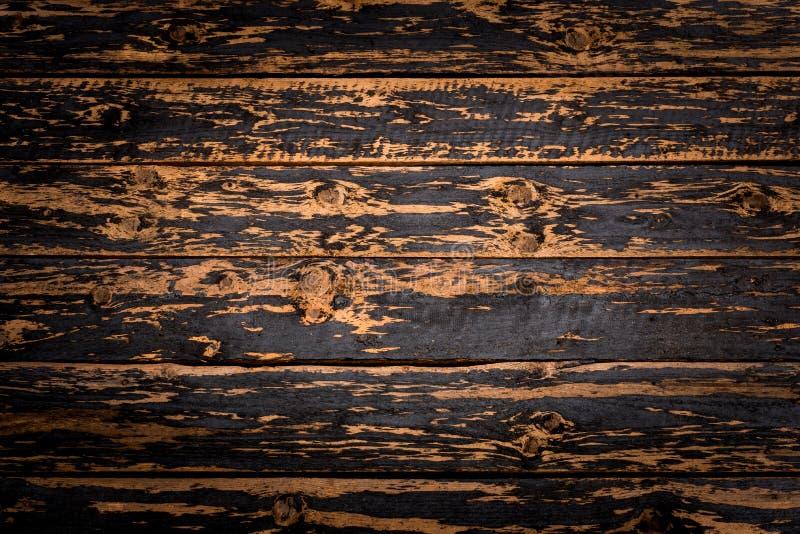 Αγροτικό ξύλινο υπόβαθρο σανίδων με συμπαθητικό και κομψό vignetting στοκ εικόνα