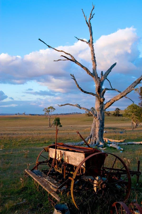 αγροτικό παλαιό άροτρο στοκ εικόνες