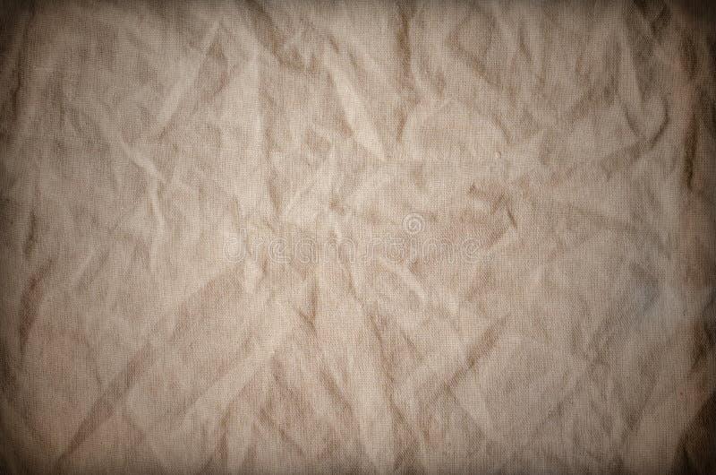 Αγροτικό παλαιό Burlap υφάσματος υπόβαθρο σύστασης ελεύθερη απεικόνιση δικαιώματος