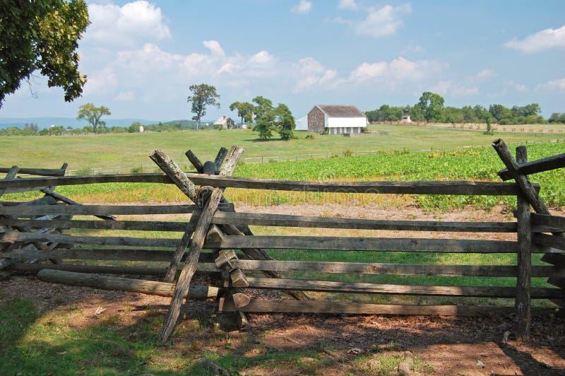 Αγροτικό πεδίο μάχη Gettysburg στοκ φωτογραφία με δικαίωμα ελεύθερης χρήσης