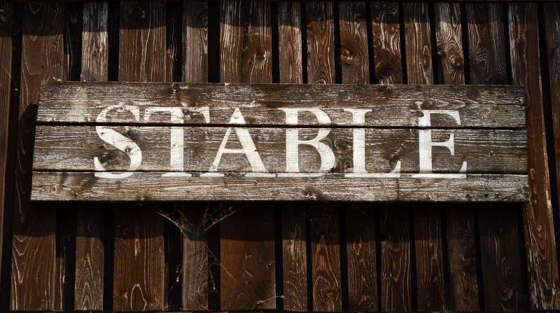 Αγροτικό σταθερό σημάδι στοκ φωτογραφία με δικαίωμα ελεύθερης χρήσης