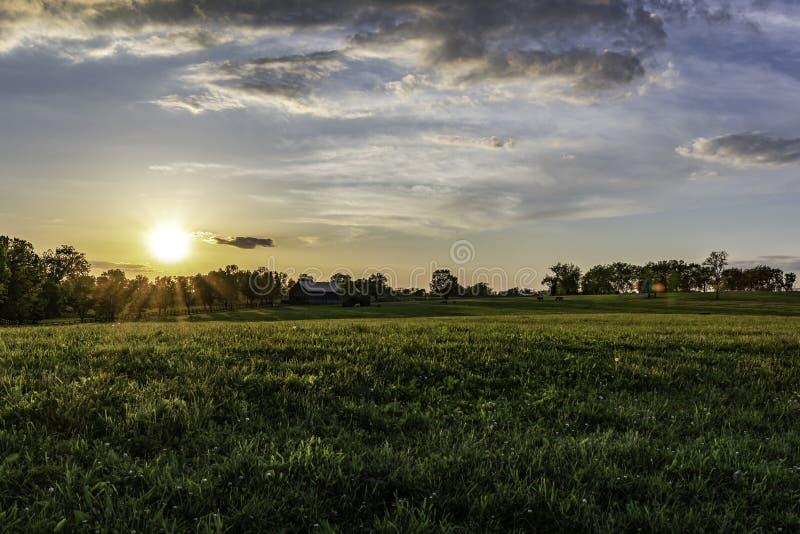 Αγροτικό τοπίο αλόγων του Κεντάκυ στοκ φωτογραφία με δικαίωμα ελεύθερης χρήσης