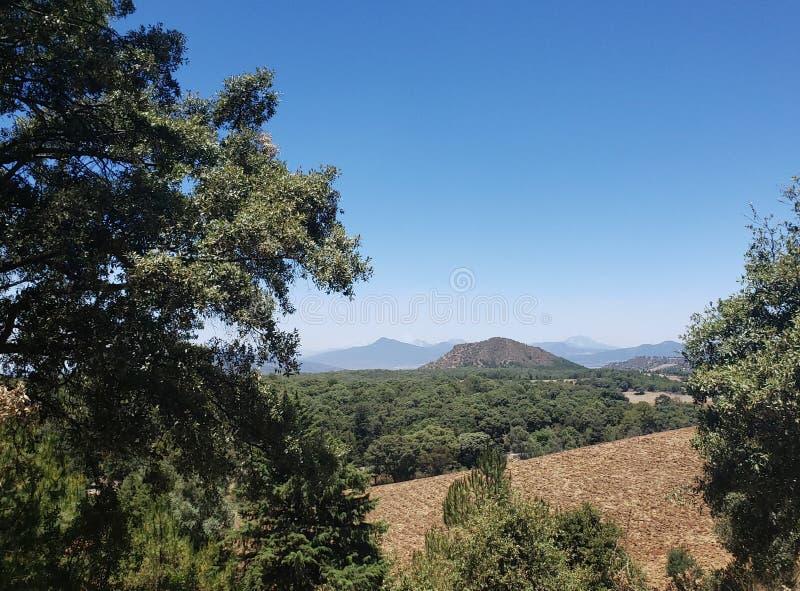 αγροτικό τοπίο σε Michoacan, Μεξικό σε μια ηλιόλουστη ημέρα στοκ φωτογραφία