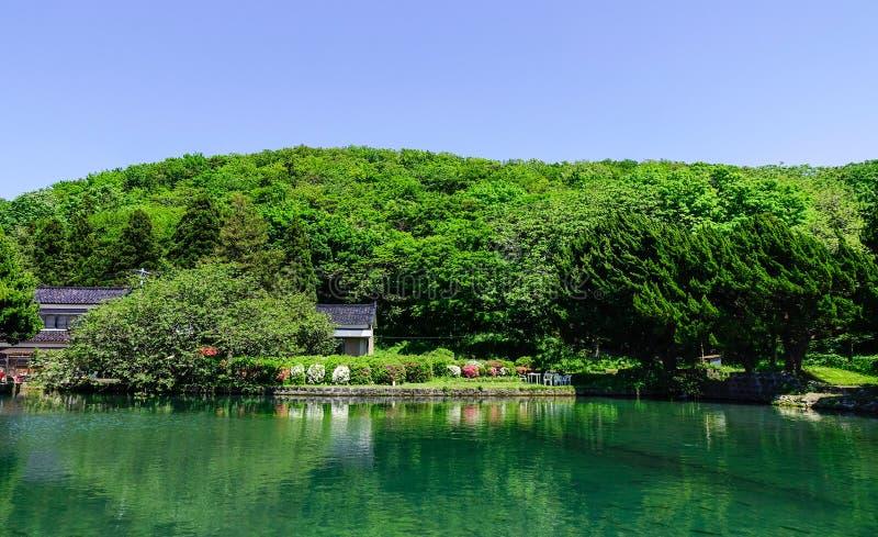 Αγροτικό τοπίο σε Tohoku, Ιαπωνία στοκ εικόνες