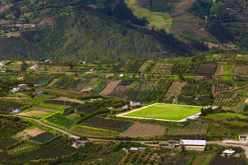 Αγροτικό τοπίο στην επαρχία Tungurahua, Ισημερινός στοκ φωτογραφίες