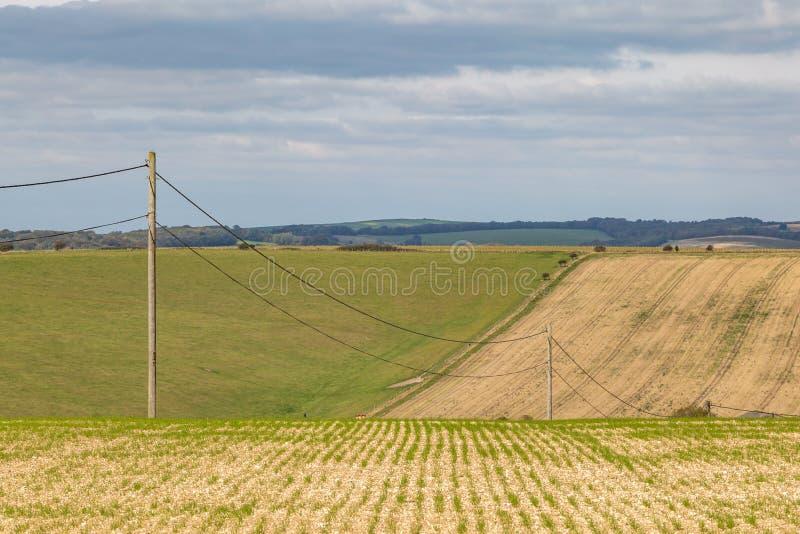 Αγροτικό τοπίο του Σάσσεξ στοκ εικόνες
